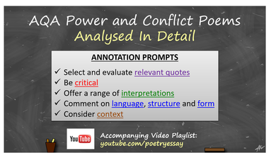 Power and Conflict Poems Analysed
