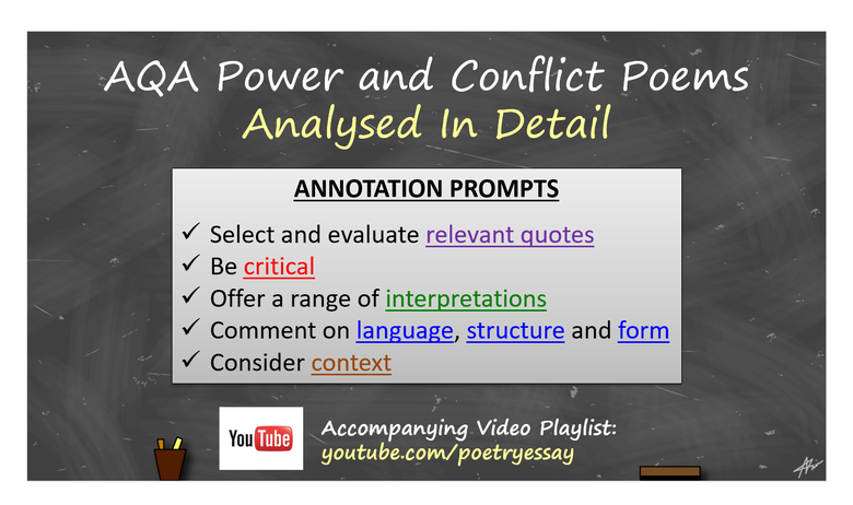 AQA Power and Conflict Poems Annotated