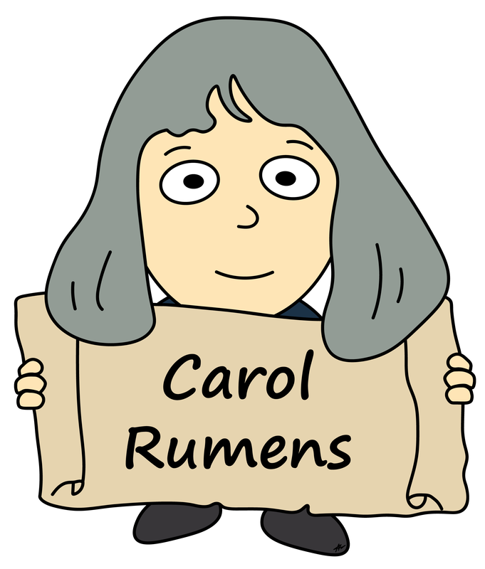 Carol Rumens Cartoon - High Resolution