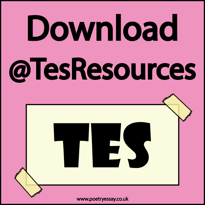 Poetry Essay - TES Resources Shop @poetryessay