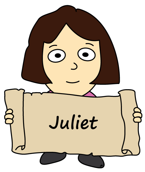 Juliet Cartoon - Romeo and Juliet - Low Res - Poetry Essay