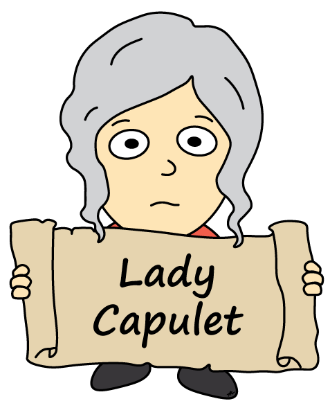 Lady Capulet Cartoon - Romeo and Juliet - Low Res - Poetry Essay