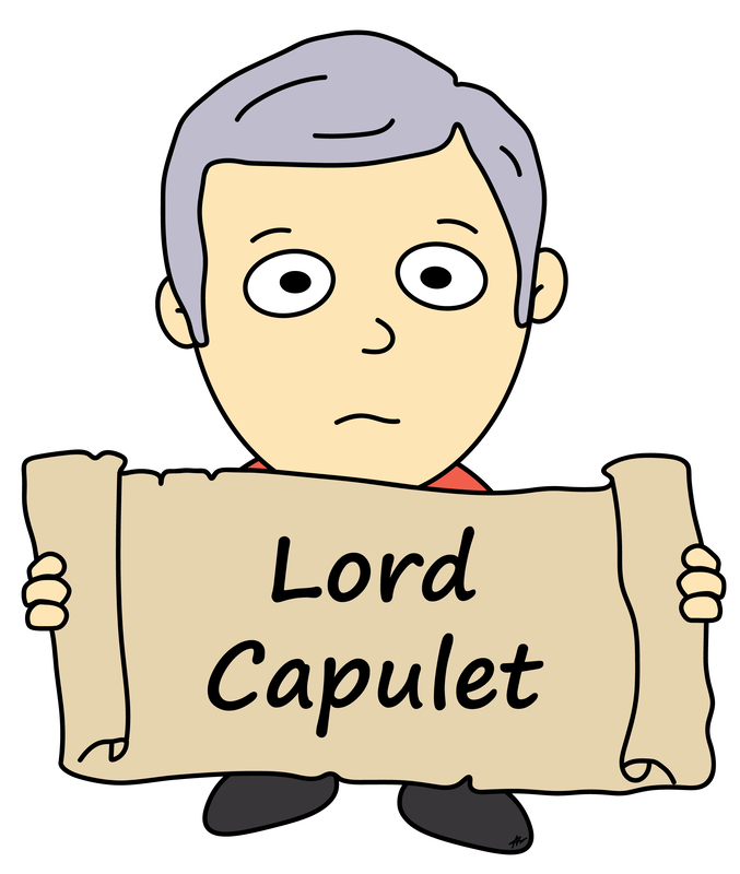 Lord Capulet Cartoon - Romeo and Juliet - High Res - Poetry Essay