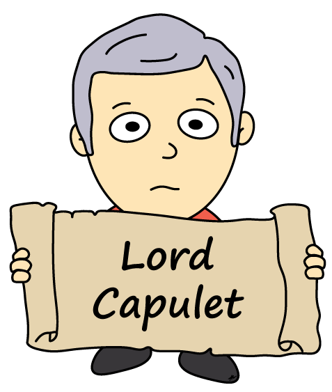 Lord Capulet Cartoon - Romeo and Juliet - Low Res - Poetry Essay