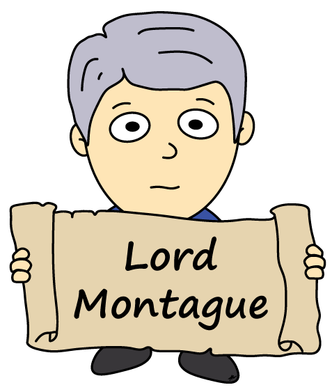 Lord Montague Cartoon - Romeo and Juliet - Low Res - Poetry Essay
