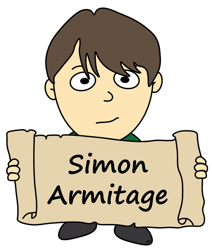 Simon Armitage Cartoon - High Resolution